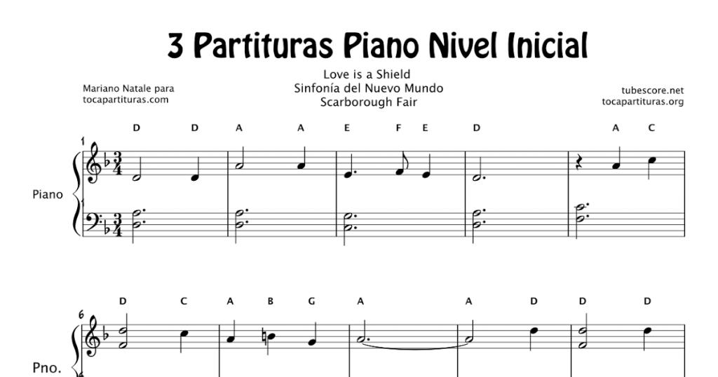 Partituras de piano