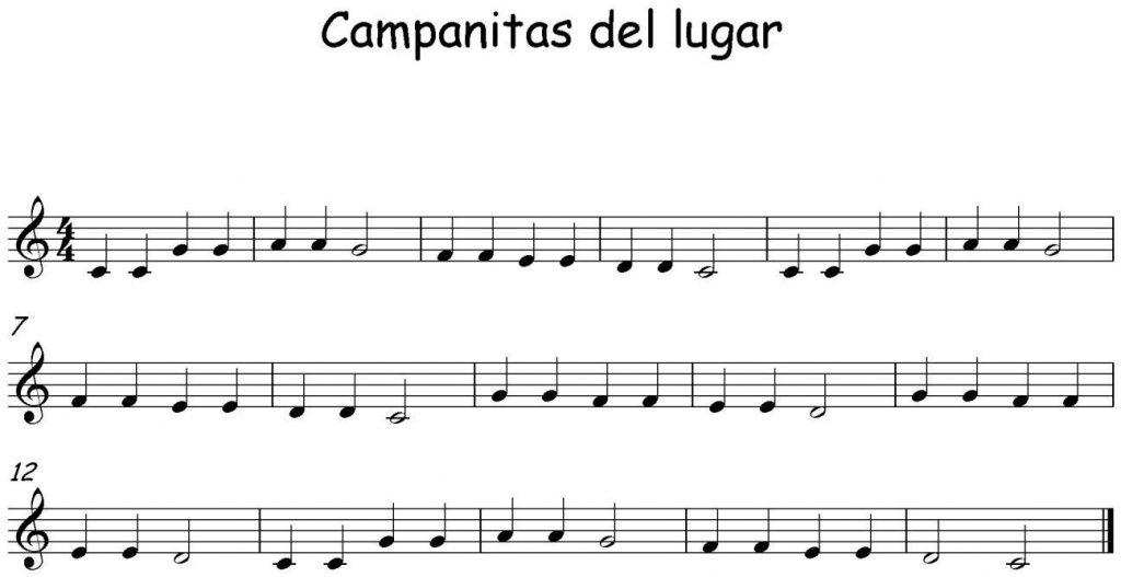 cancion partitura flauta